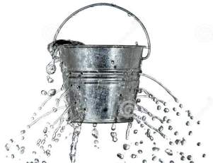 A leaking bucket