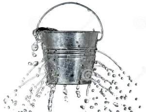 A leaking bucket